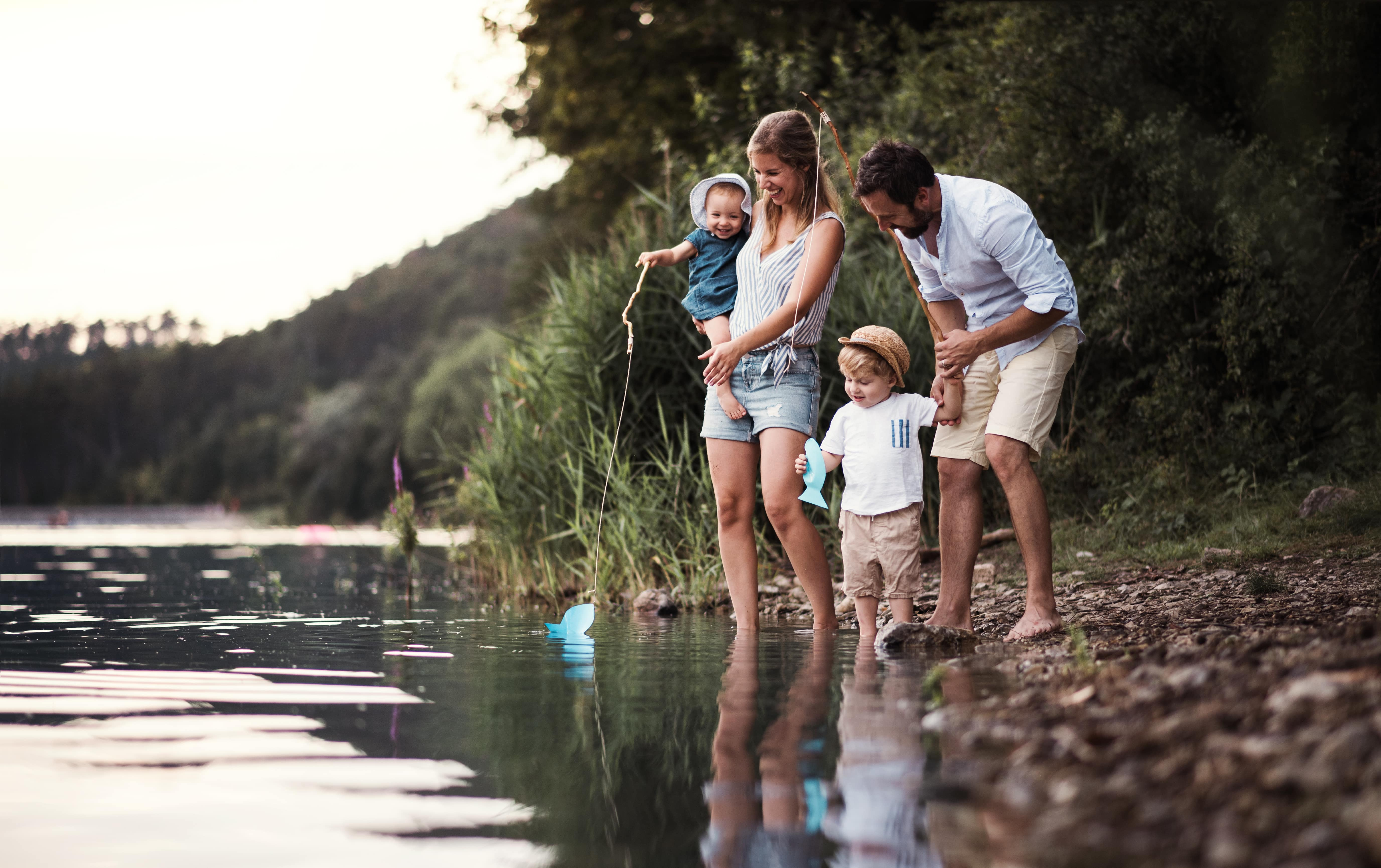 Family in the nature