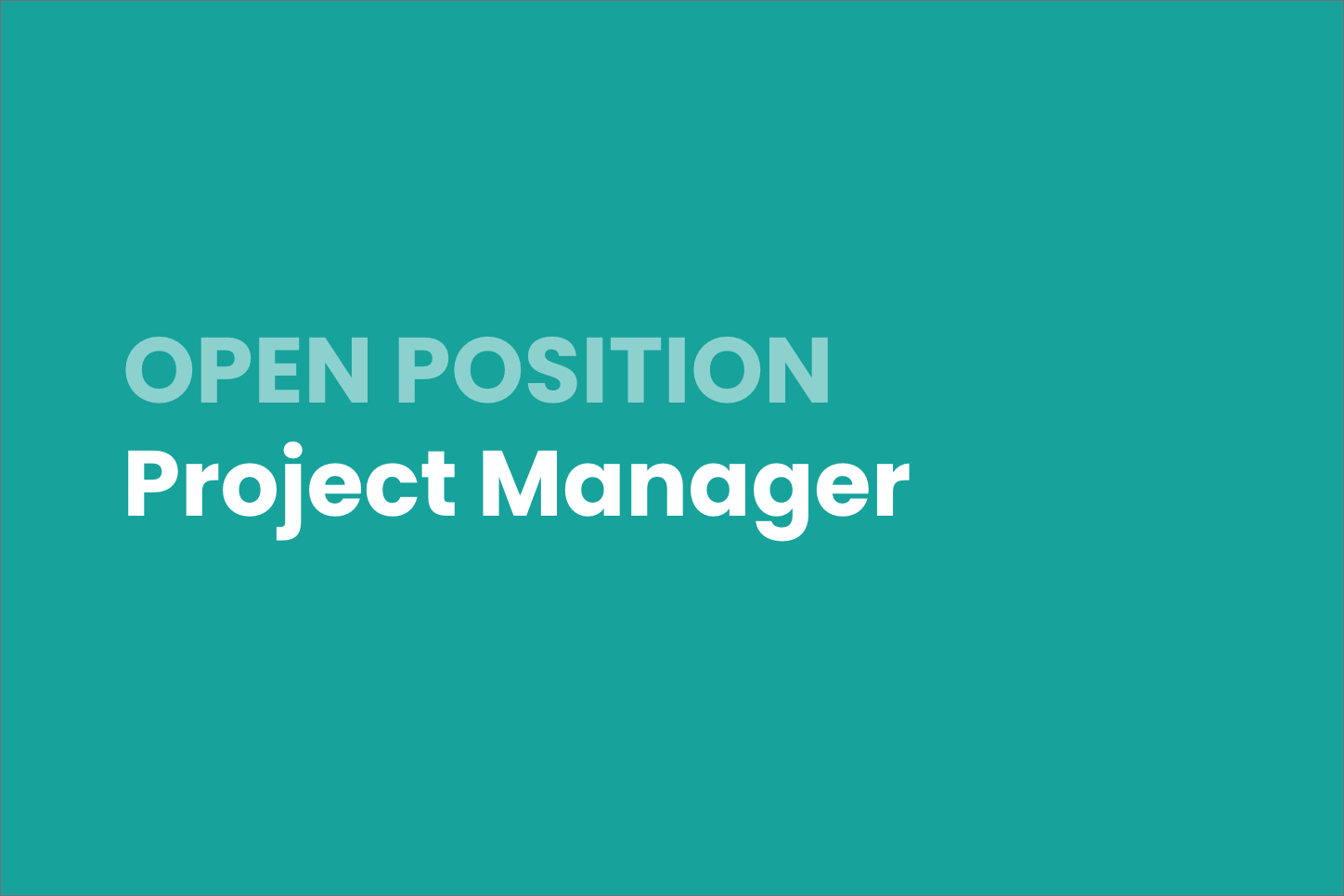 Open Listing: Project Manager