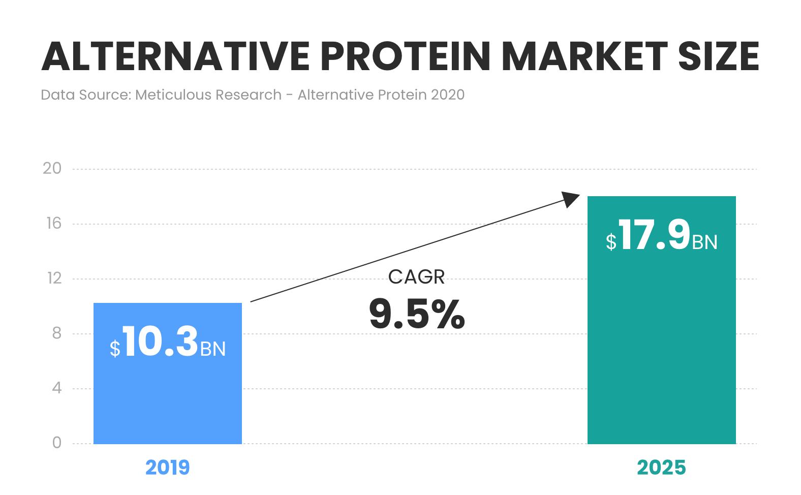 Alternative protein market size