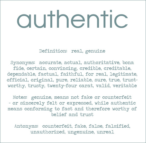Authentic by Dee Bamford