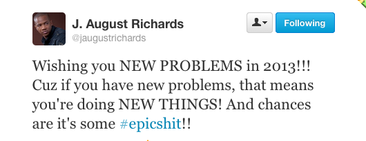 J August Richards quote for the NY 2013