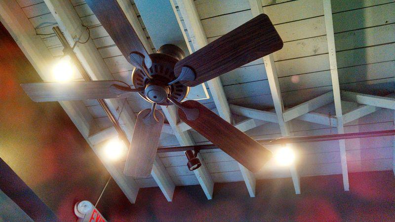Ceiling Fan inside of Monon Coffee Company