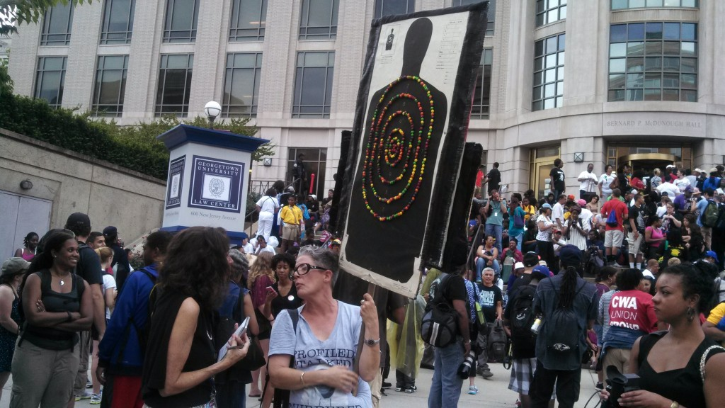 Marcher from Louisiana with Trayvon sign