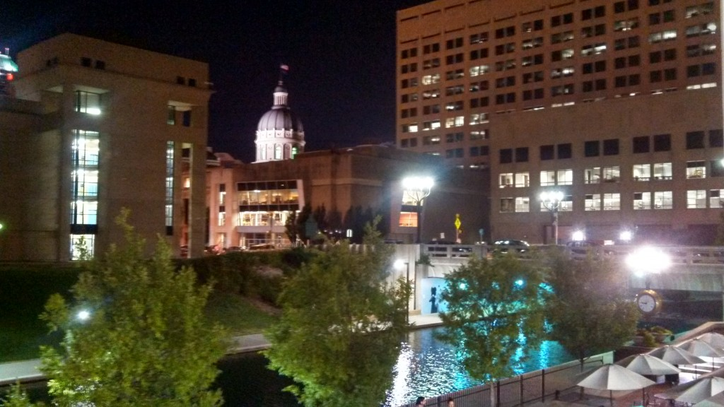 Why this is awesome: This is my hometown of Indianapolis in the evening captured in a photo this past August. On the night ...