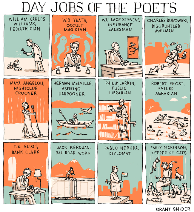 Grant Snider - Day Jobs of Poets