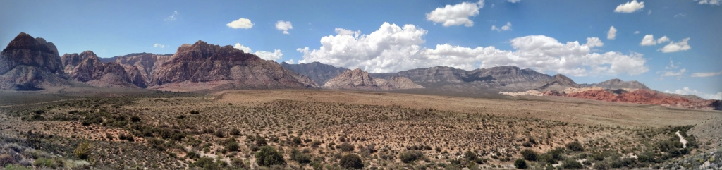 Panoramic view of Red Rock Canyon and the Mountains