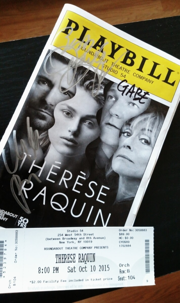 Therese Raquin playbill