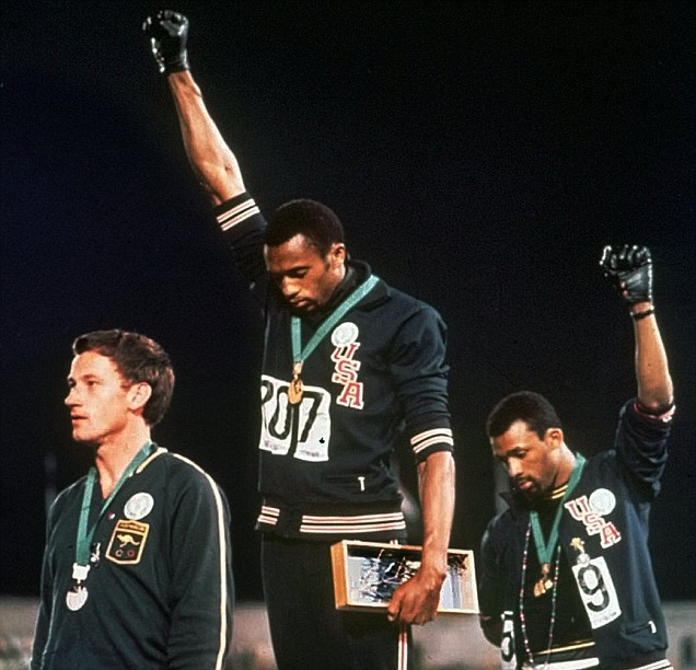 Carlos, Norman and Smith at the 1968 Olympics