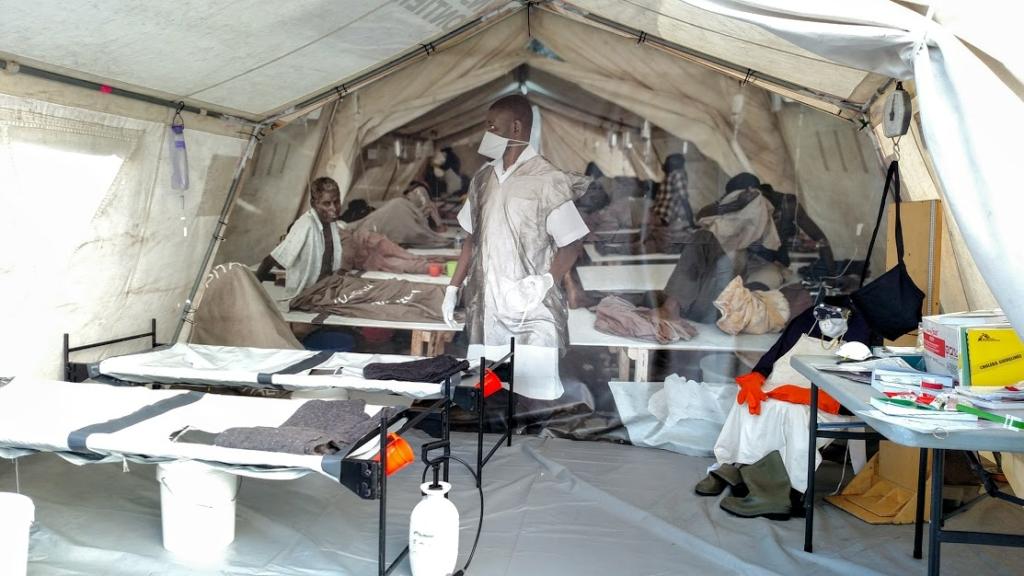 MSF Cholera tent