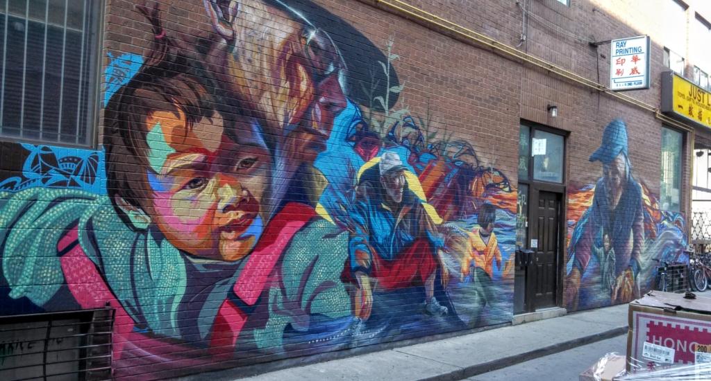 Chinatown mural in Toronto