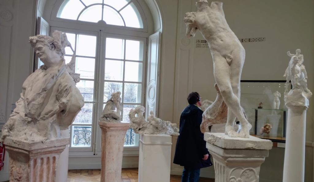 Works by Rodin on Pedestals