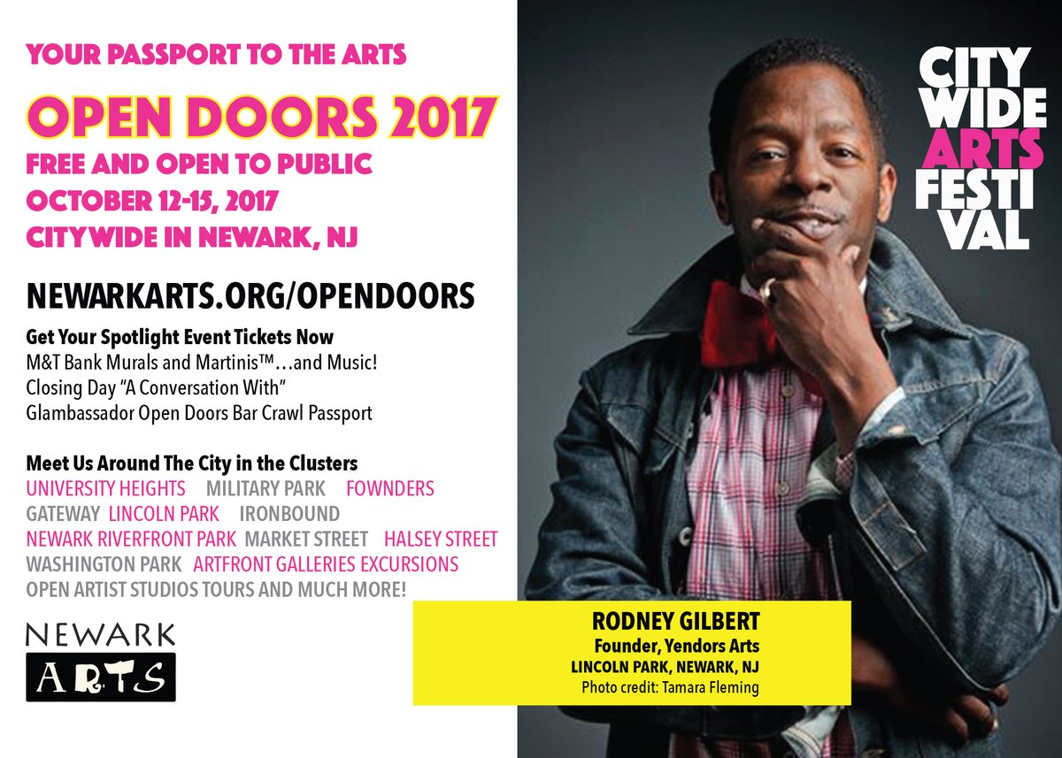 Newark Arts' Open Doors Citywide Arts Festival marks its 16th year with events highlighting Brick City's ...