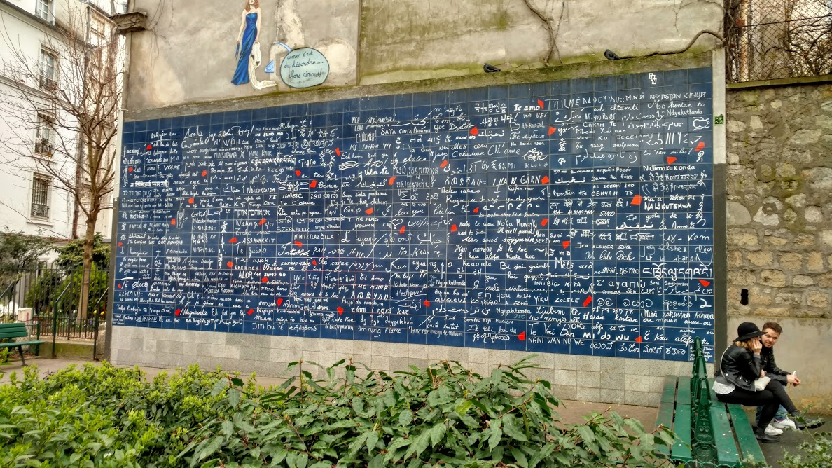 Why This Is Awesome: Le mur des je t'aime is one of those tourist spots that you don't really travel to a city or ...