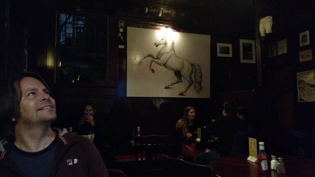 White Horse Tavern with James