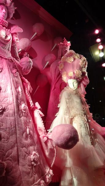 Bergdorf Goodman Christmas Window - Pink Mary and Elizabeth