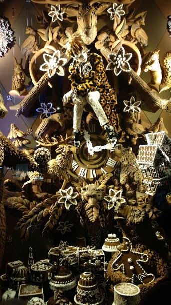 Bergdorf Goodman Christmas Window - Milk Chocolate Bear Lodge