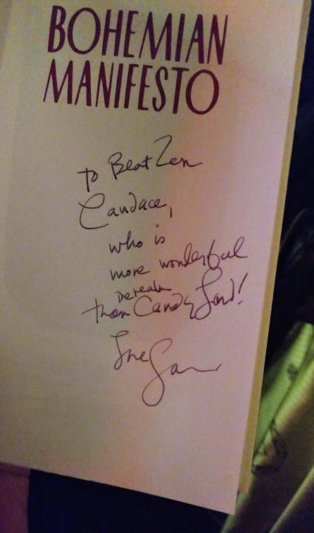 My signed copy of Bohemian Manifesto