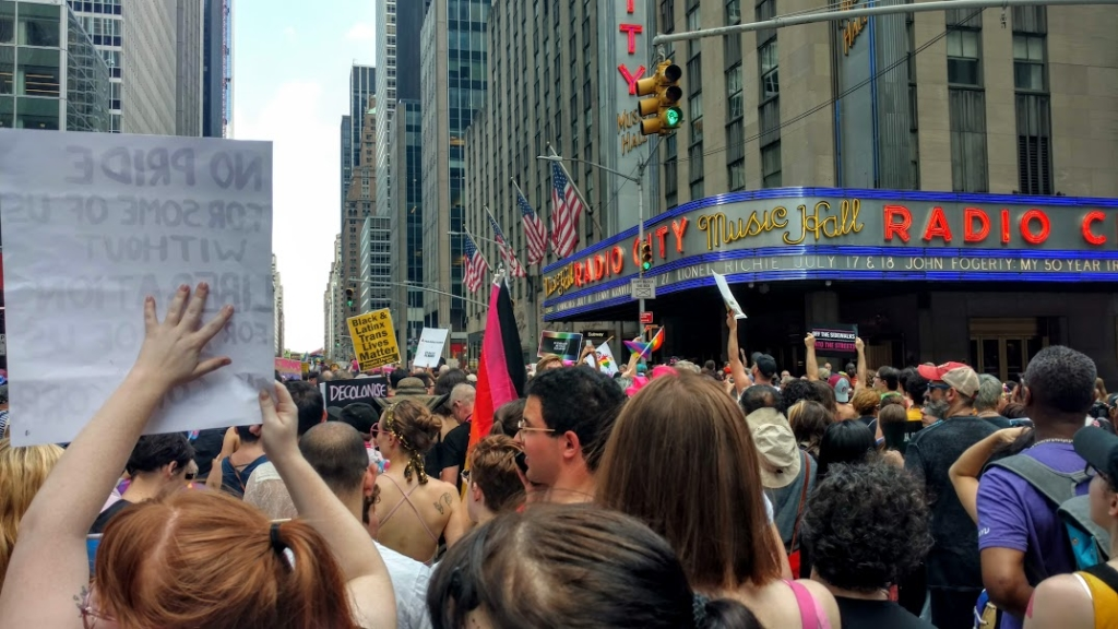 Marching north to Central Park