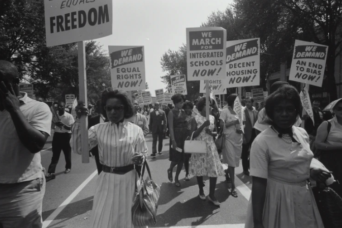 Civil Rights March on Washington DC by Warren Leffler