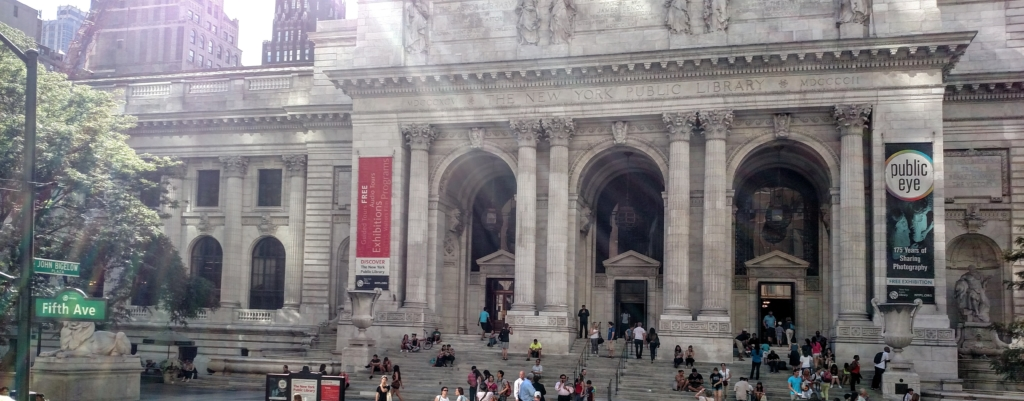 The main branch of the New York Public Library near Bryant Park (no filter)