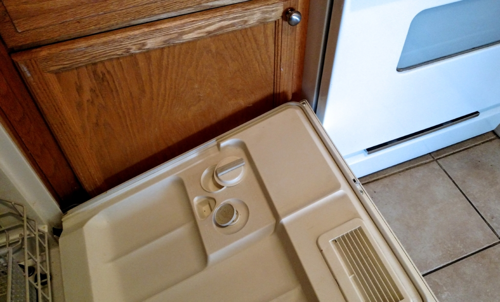 The absurdity of a dishwasher door that won't open all the way