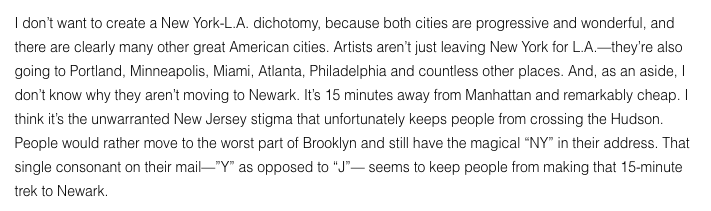 Quote from musician and artist Moby about the city of Newark