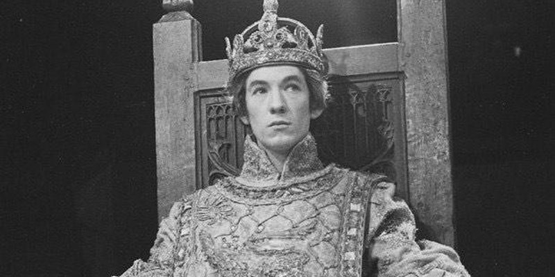 A young Sir Ian McKellen in a play - photo credit unknown