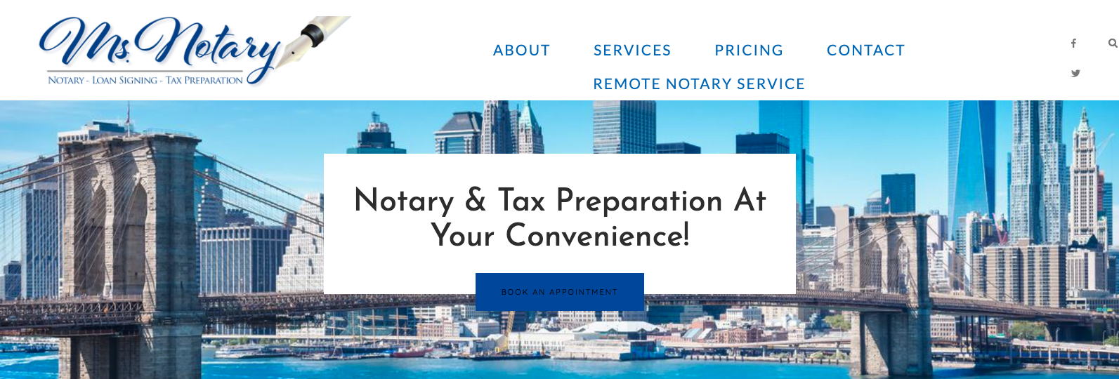 Ms. Notary NY Website Copywriting Project