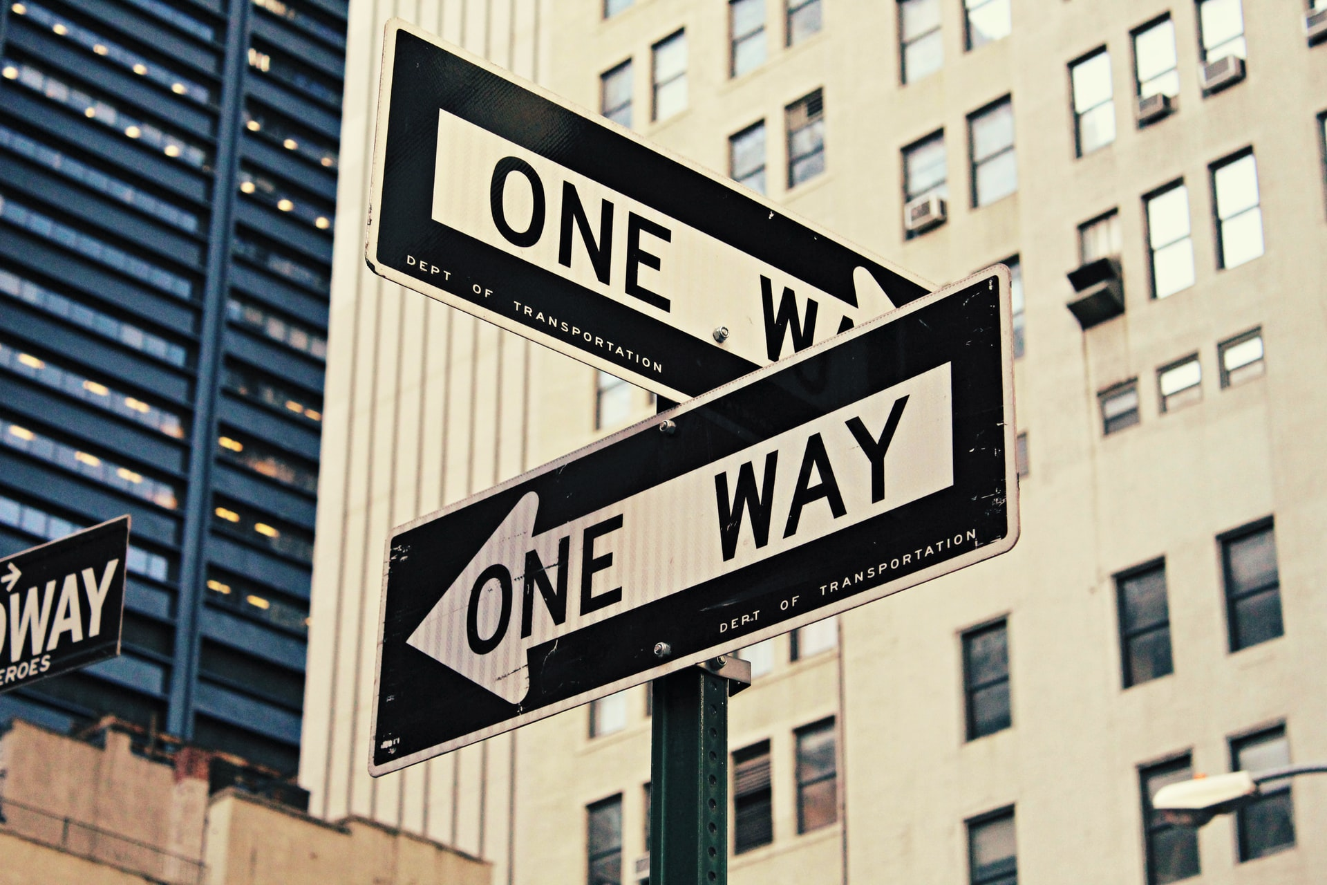 One Way signs in NYC by Brendan Church