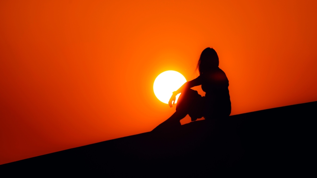 Dubai sunset by Hassan Pasha