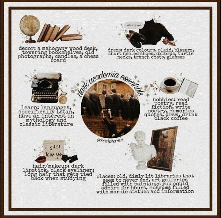Dark Academia Essentials by @scorpiombs