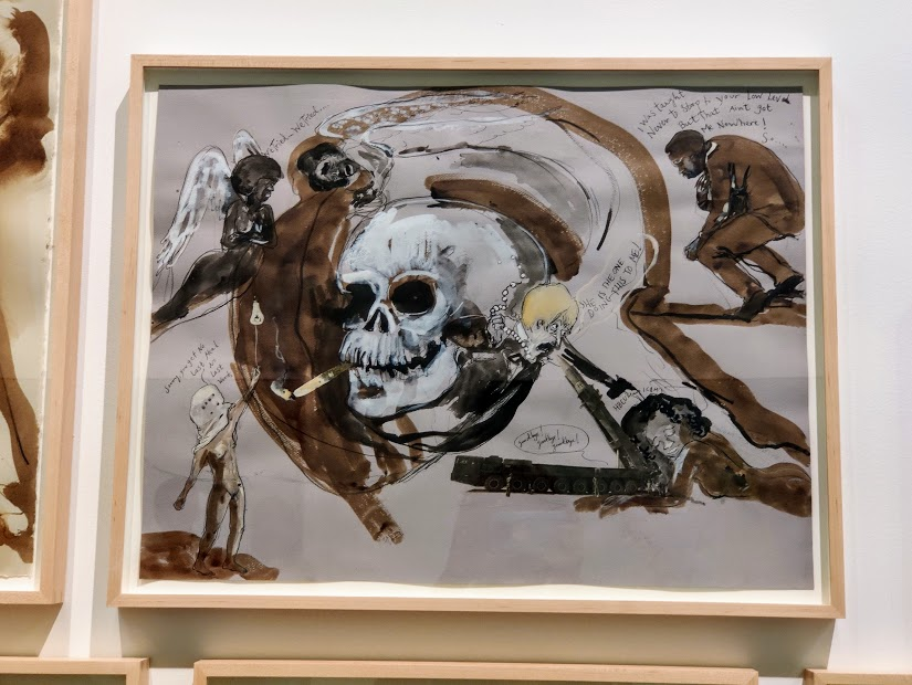 My favorite piece in the Kara Walker collection at Grief and Grievance