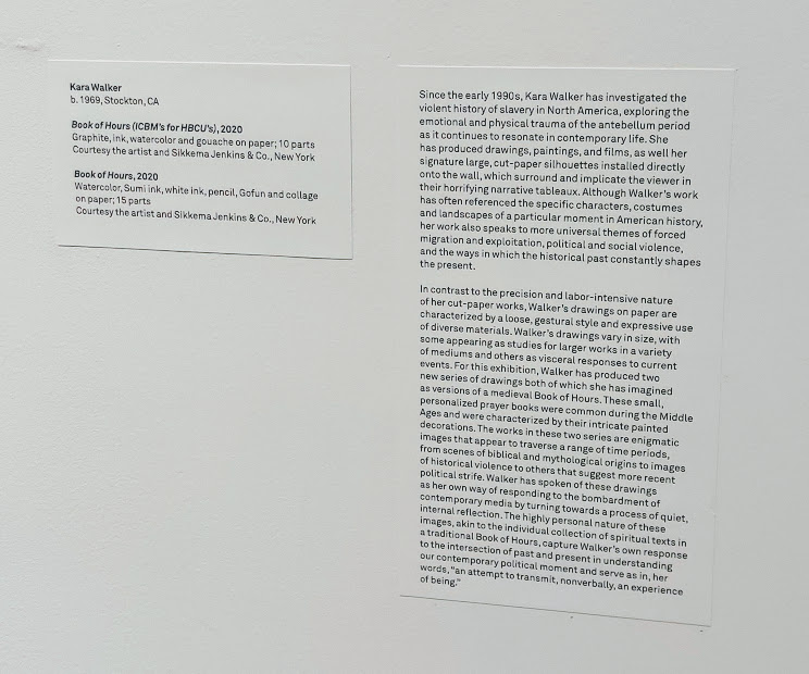 Kara Walker tag and artist statement