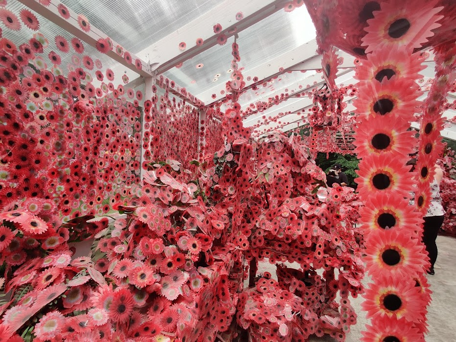 Inside Flower Obsession by Kusama
