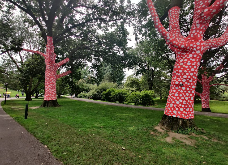Ascension of Polka Dots on the Trees by Kusama