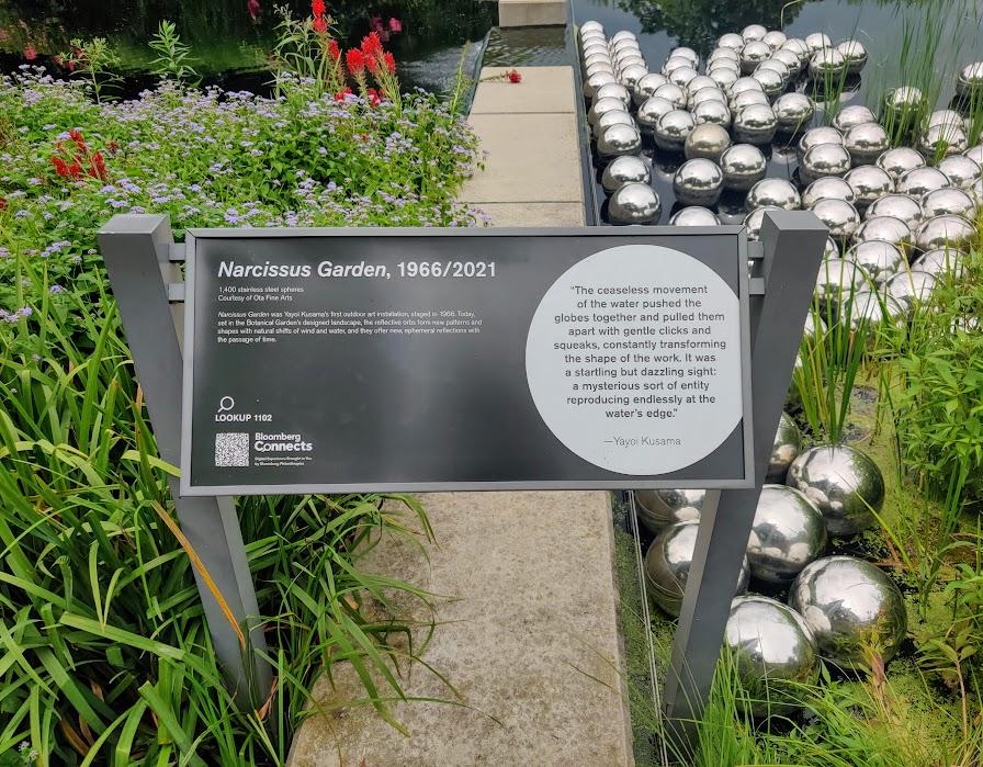 Narcissus Garden text at NYBG