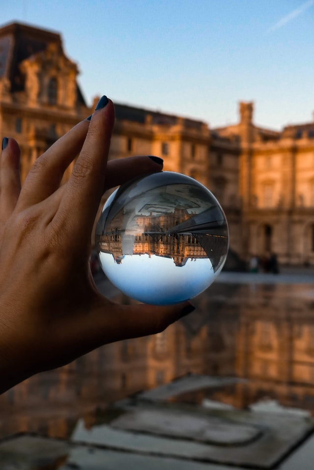 Lens Ball - Musee du Louvres by Margot Richard