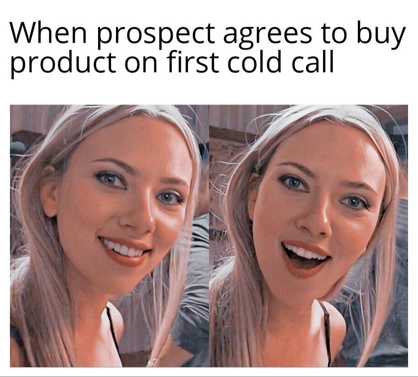 cold call sales meme