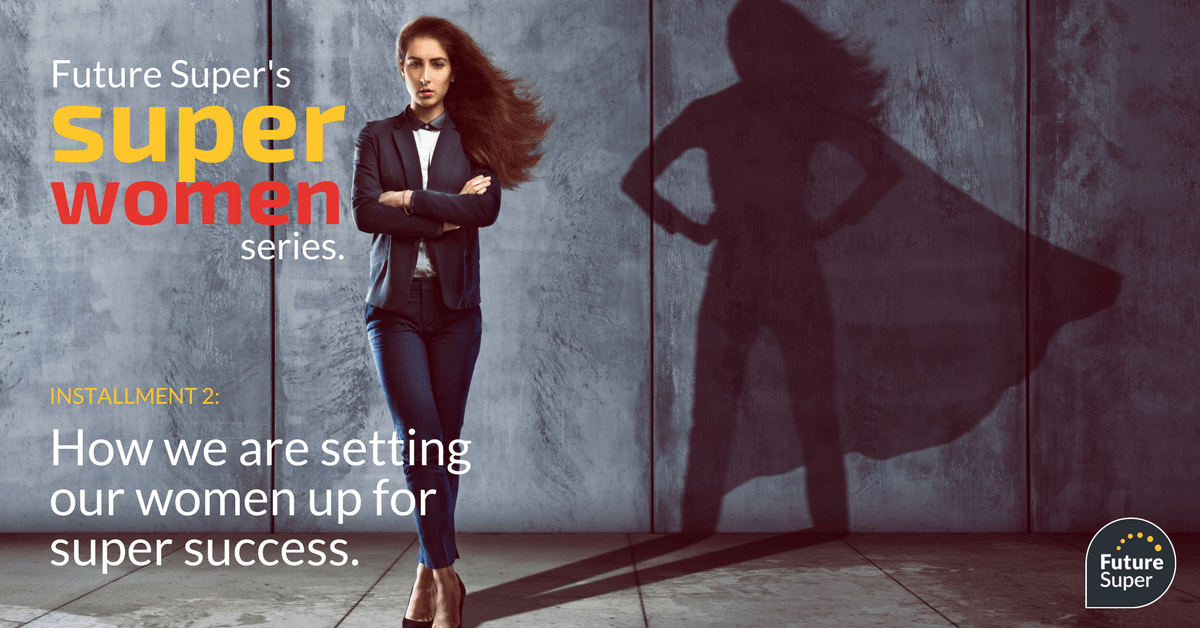 image of woman with shadow showing her as a super hero. Future Super's super woman series installment 2: How we are setting our woman up for super success.