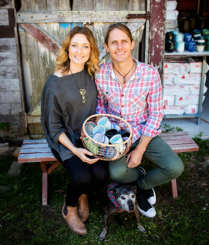 Renton and Clare from Pottery for the Planet