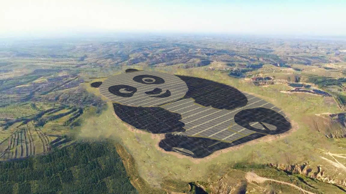 Artist's impression of a solar farm in China.Source: Chinese Merchants New Energy / Panda Energy.
