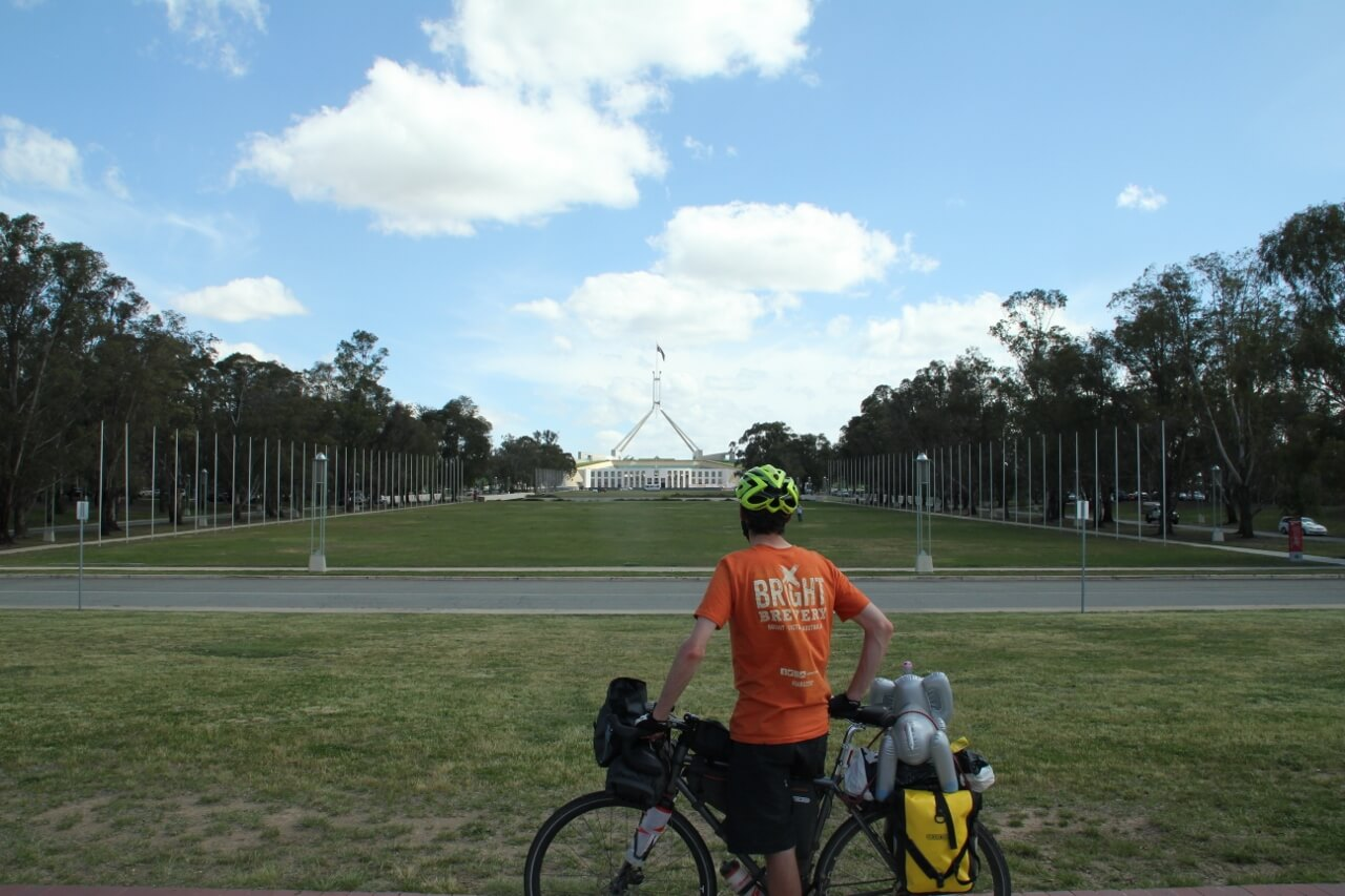 Climate Cycle 2018 reaches Parliament House in Canberra, ACT