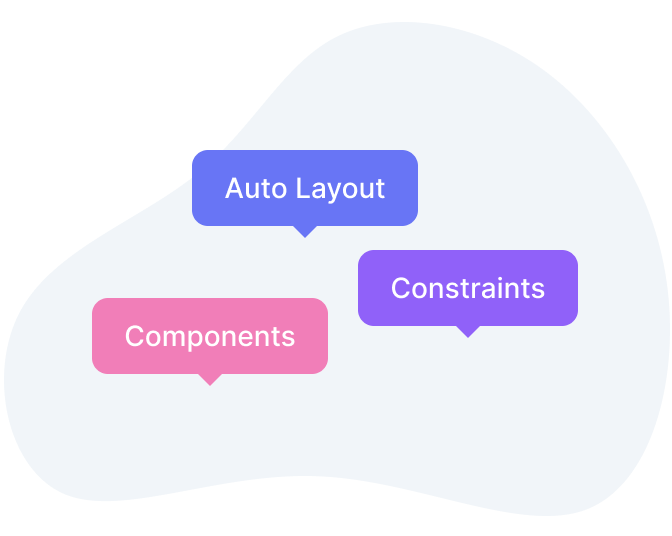Figma's best features like Auto Layout, Constrains, Components, etc.