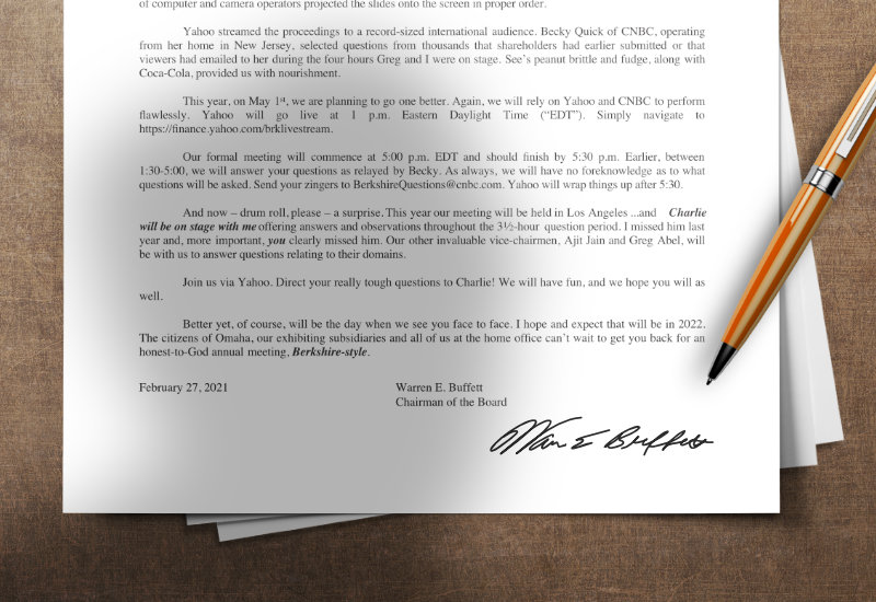 La carta más leída del mundo financiero