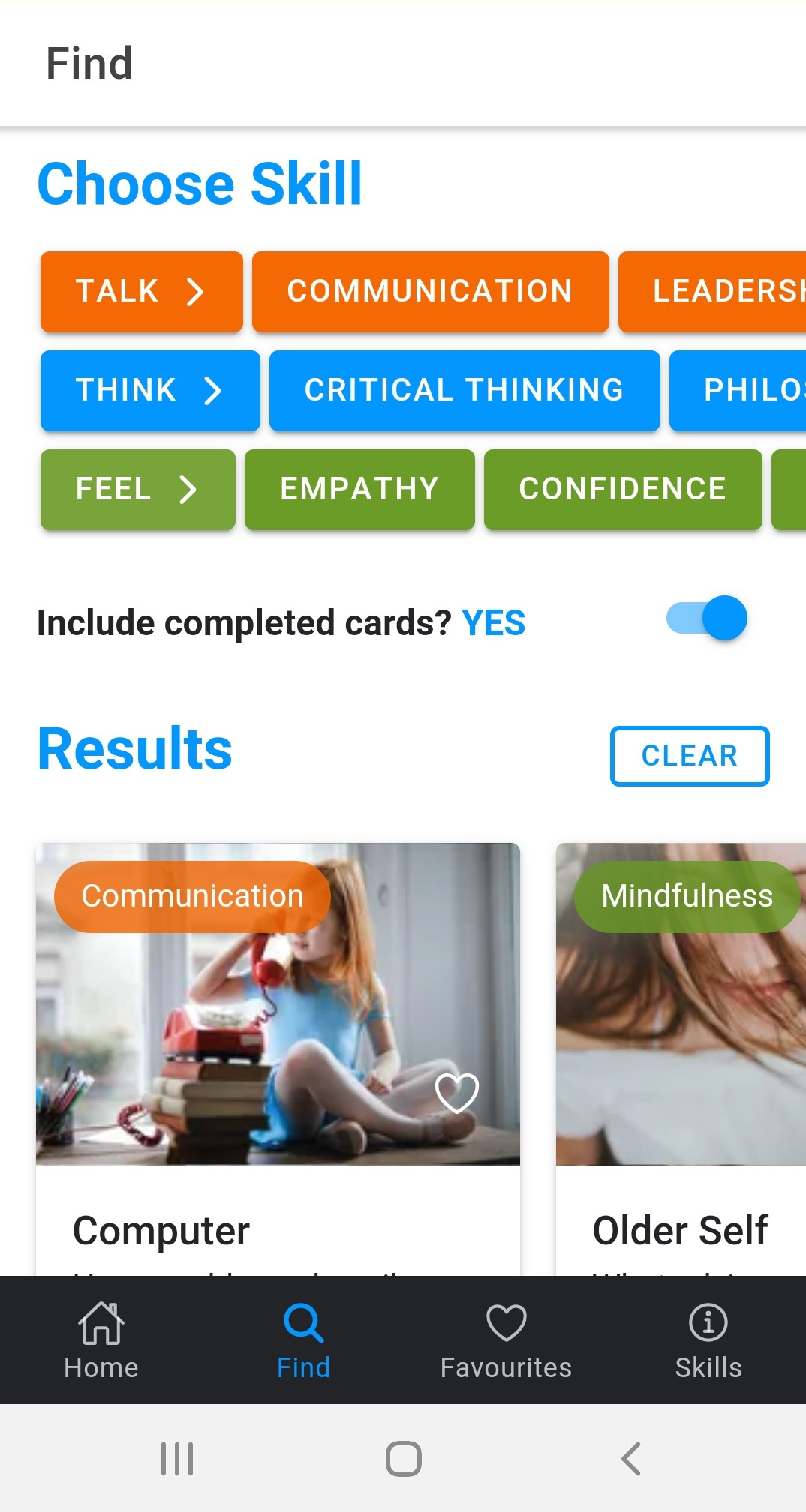 Kid Coach App ask children questions