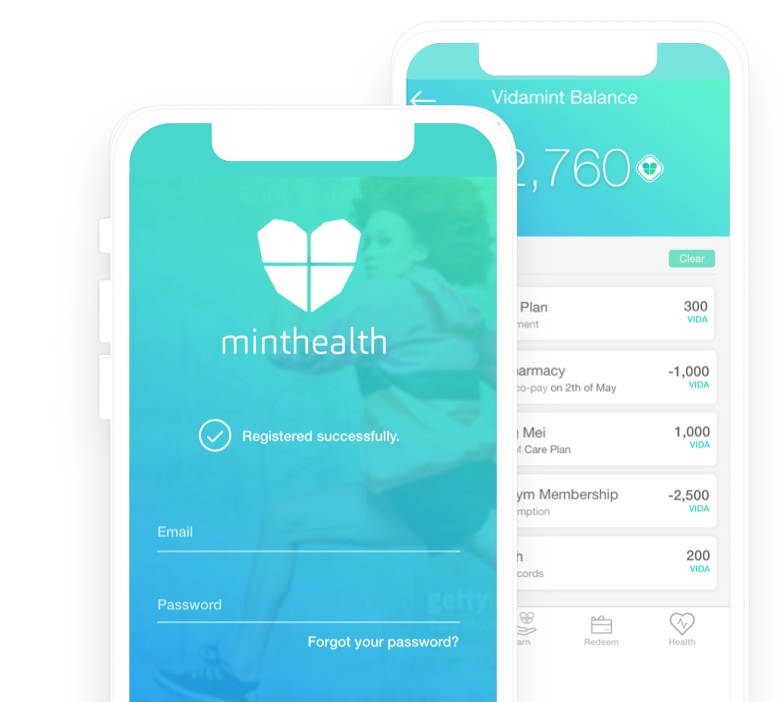 mintHealth Mobile Dashboard
