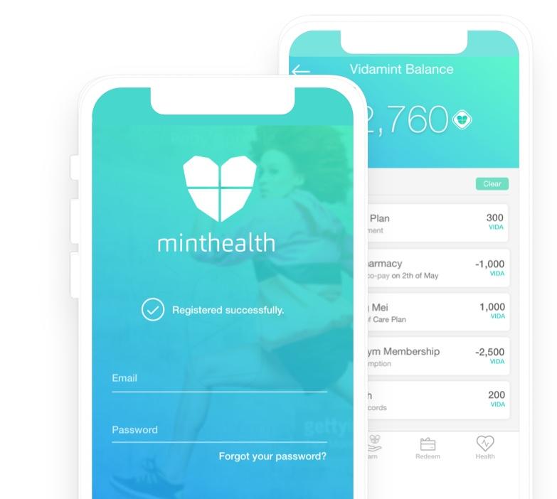mintHealth Mobile Dashboard