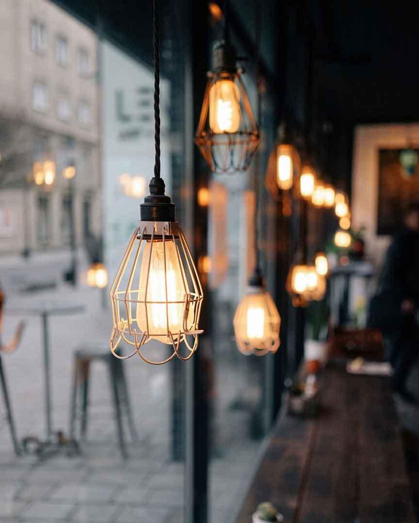 Hyggelige omgivelser på en kaffebar