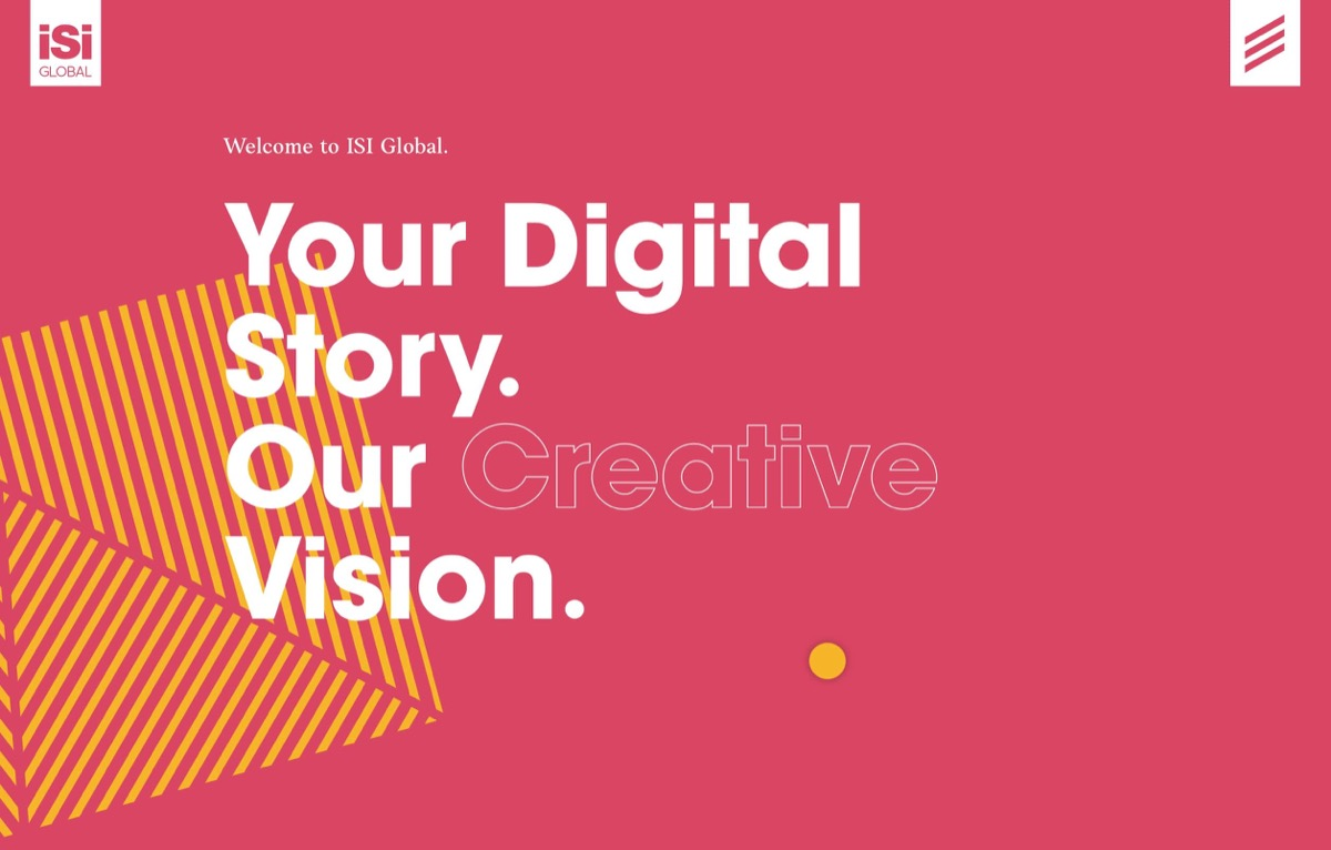 A website with big bold typography which is one of the web design trends for 2020