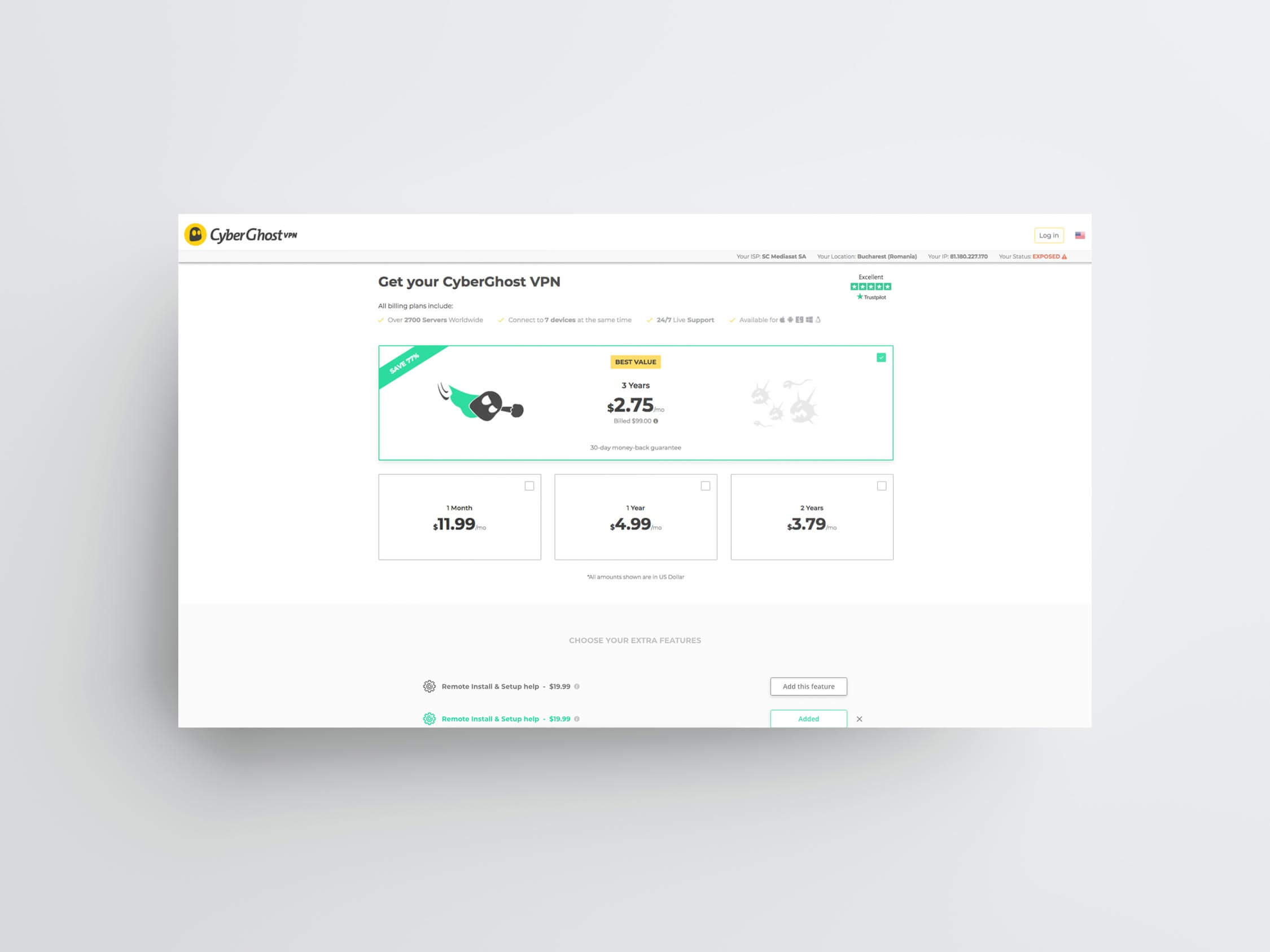 A screenshot of web page